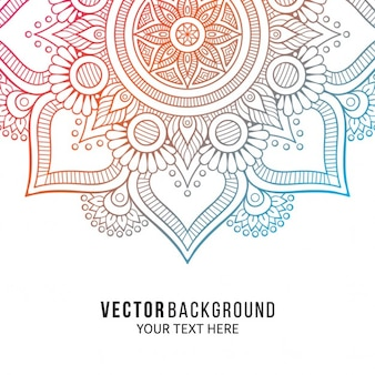 Background with a colorful floral mandala
