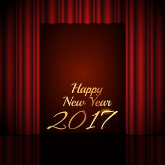 Background with a curtain for new year