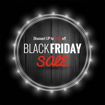 Background with a light frame for black friday