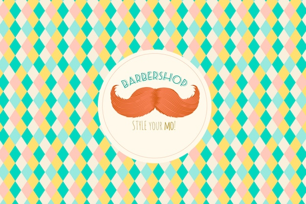 Movemberの口ひげと背景