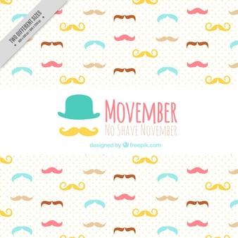 Movemberための口ひげと背景