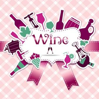 Вино меню набор карт вино для дизайна yours