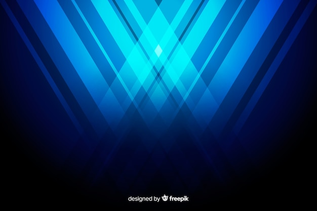 Background with abstract blue shapes
