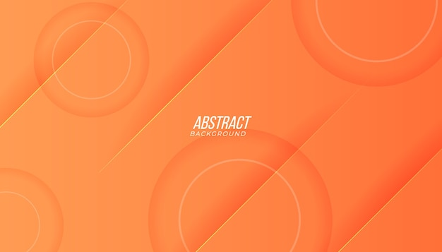 Background with abstract lines geometric shapes and shadow in peach orange color