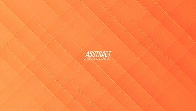 Background with abstract lines and shadow in peach orange color