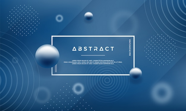 Background with abstract memphis style design in blue color Premium Vector