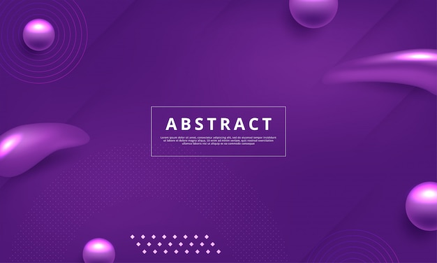 Background with abstract memphis style design in purple color