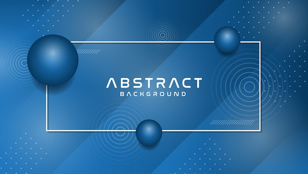 Background with abstract memphis style in trendy blue color