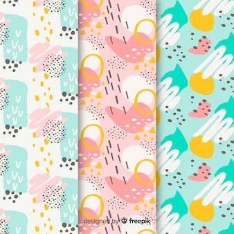 Background with abstract pattern collection design