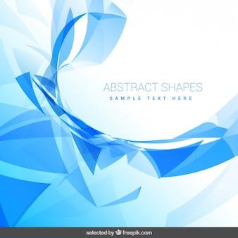抽象的な形と背景
