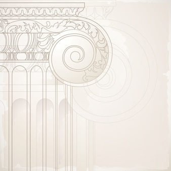 Background with architectural element