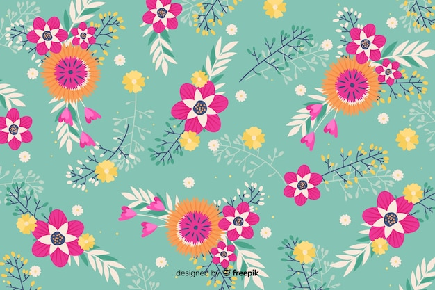 Background with artistic floral design
