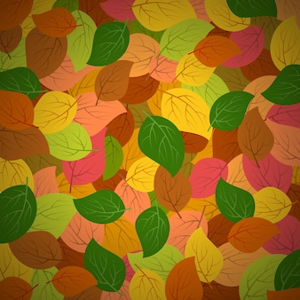 Background with autumn leaves. vector illustration