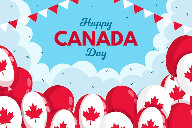 カナダの日の風船の背景