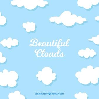 아름 다운 구름과 배경