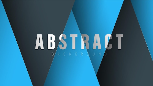 Background with black and blue intersecting triangles.
