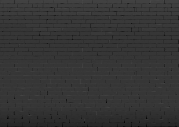 Background with black brick wall
