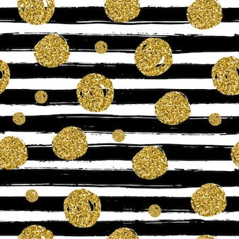 Background with black lines and golden dots