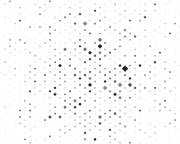 Background with black and white and gray rhombuses of different sizes and shades