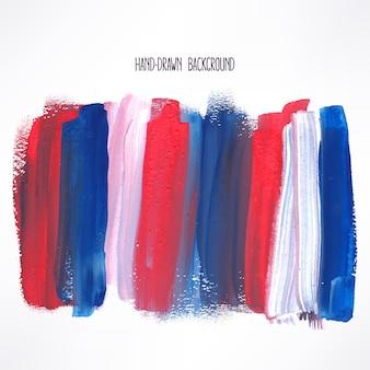 青と赤のストロークの背景 Premiumベクター