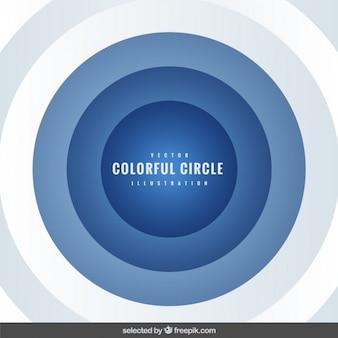 青色の同心円と背景