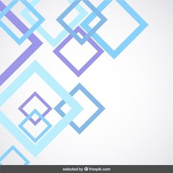 Background with blue and purple outlined squares