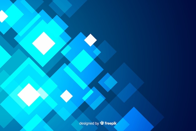 Background with blue shapes