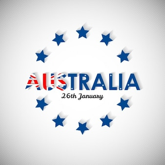 Background with blue stars for australia day