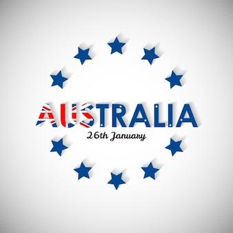 Австралия текст с star shadow фоне