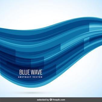 Фон с синей волны