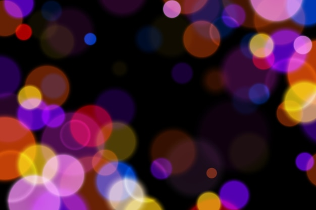 Background with bokeh effect in the dark