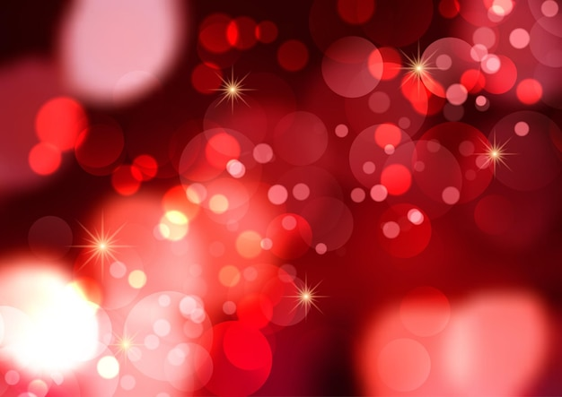Background with bokeh lights and stars