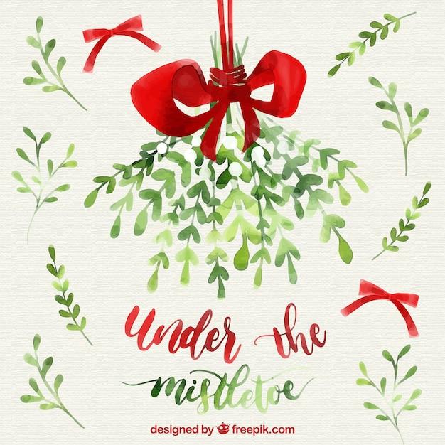mistletoe vectors photos and psd files free download rh freepik com Christmas Vector Mistletoe Leaf Pattern
