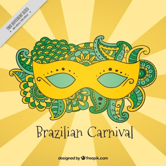 Background with brazilian carnival mask