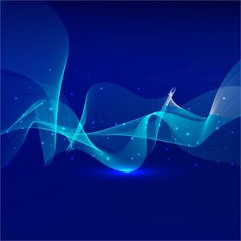 Sfondo ondulato blu