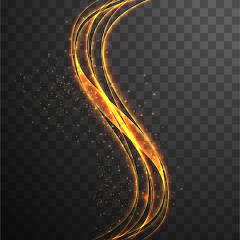 Background with bright wavy shapes