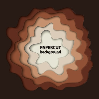 Background with brown paper cut shapes