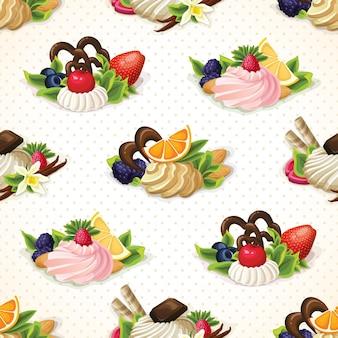 Фон с пирожными