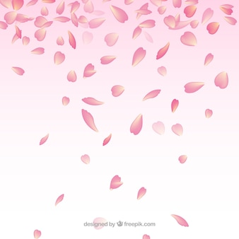 Background with cherry blossom petals