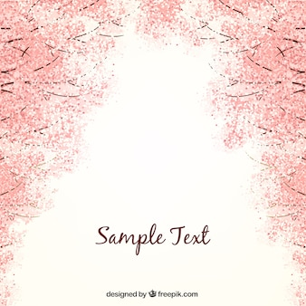 Background with cherry blossoms Premium Vector