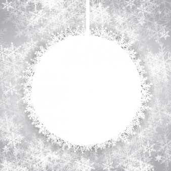 Background with christmas empty snowball