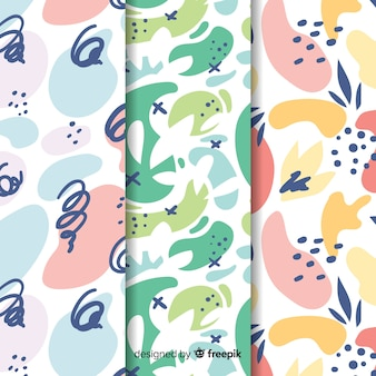 Background with collection pattern style