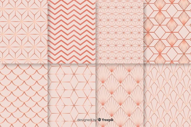 Background with collorful pattern collection