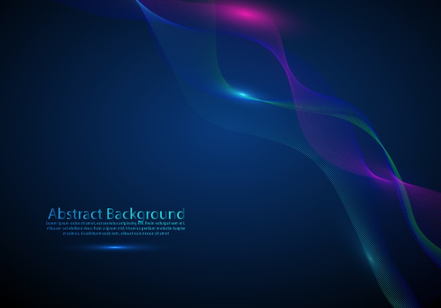 Background with a colored dynamic waves