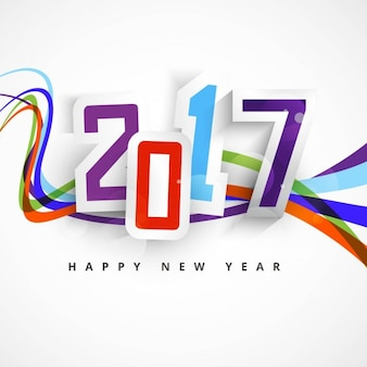 Background with colored lines for new year