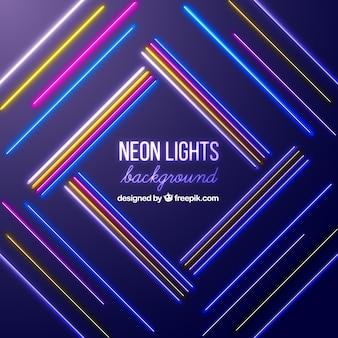 Sfondo con luci al neon colorate