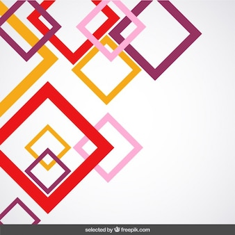 Background with colored outlined squares