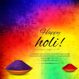Background with colored pigments for holi