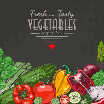 Background with colored vegetables