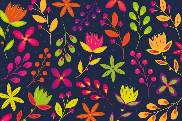 Background with colorful ditsy floral print